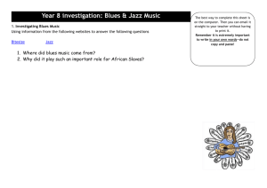 Year 8 investigation: Blues & Jazz Music