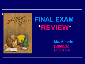 Final Exam REVIEW ppt