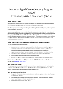 What is the National Aged Care Advocacy Program (NACAP)?