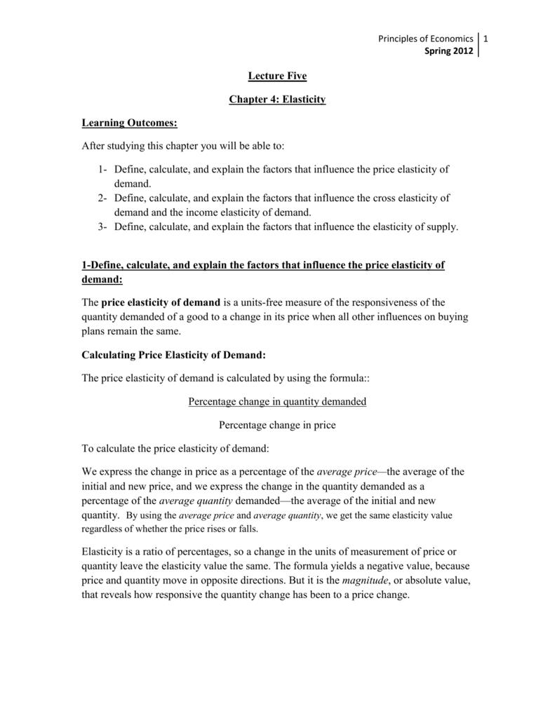 Lecture Five Principles Of Economics