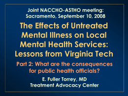 Overwhelmed local mental health systems