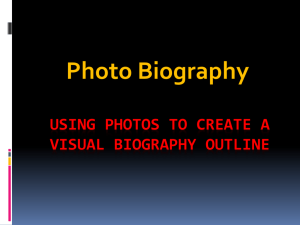 Using Photos to Create a Visual Biography Outline