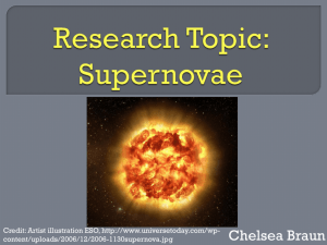 Research Topic: Supernovae