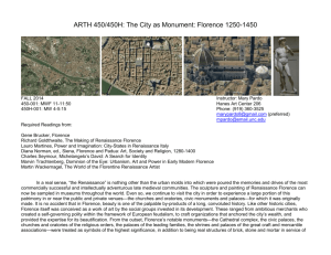 The City as Monument: Florence 1250–1450