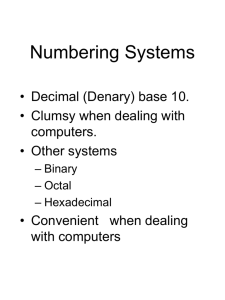 Numbering Systems