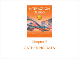 chapter7 - Interaction Design
