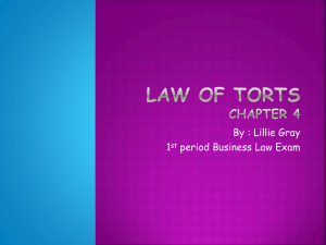 Law of Torts Semester Exam