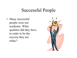 to view the Successful People Slide Show