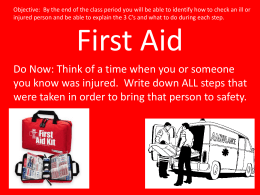 First Aid Kit - Fair Lawn Schools