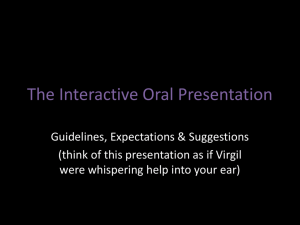 The Interactive Oral Presentation