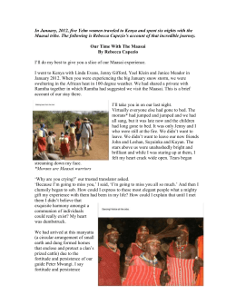 In January, 2012, five Yelm women traveled to Kenya and spent six