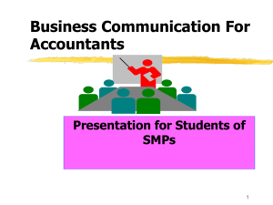 Business Com. For Accountants