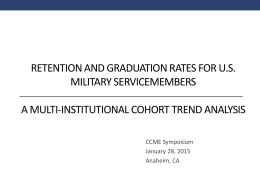 Retention and Graduation Rates for US Military Servicemembers