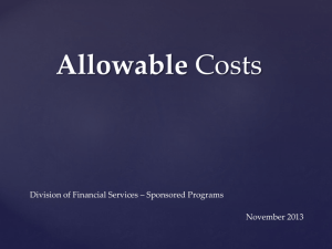 Allowable Costs - Kansas State University