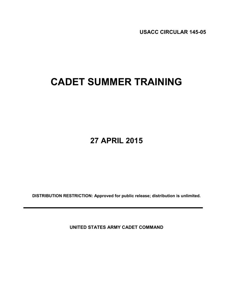 Chapter 2 Cadet Summer Training General