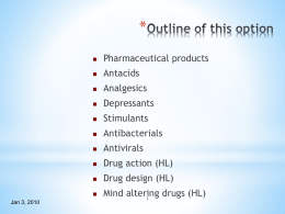 Ppt on Medicines and Drugs - Atlanta International School Moodle