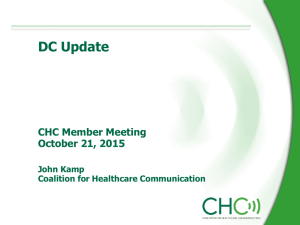 CHC Member Mtg Oct. 21 - Coalition for Healthcare Communication