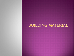 BIOS 2310 lecture 3 Building Material student