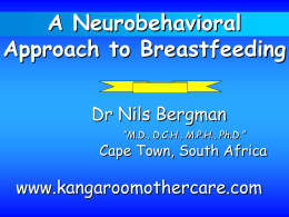 A neurobehavioral approach to breastfeeding