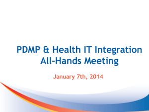 PDMPPDMP Health IT Integration All hands-1-7