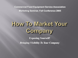 How To Market Your Company Using CFESA