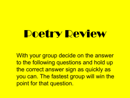 Poetry Review - Newton Middle School