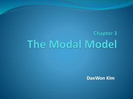 2. The Serial Position Curve and the Modal Model