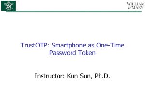 TrustOTP: Smartphone as One