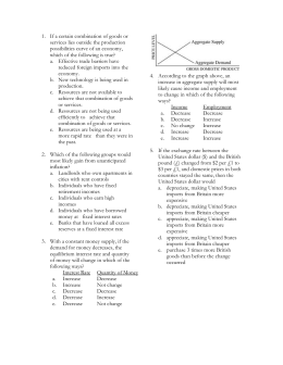 macroeconomics exam 1 review from quiz 1 This chapter introduces you to the basic topics of macroeconomics, and presents the main macroeconomic goals: 1) living standards growth, 2) stability and security, and 3) financial, social, and ecological sustainability.