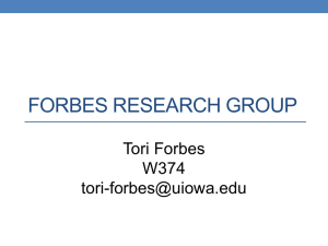 Forbes Research Group - Department of Chemistry