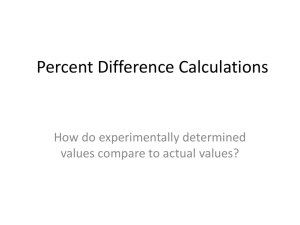 Percent Difference Calculations