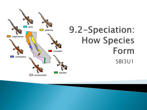 Speciation: How Species Form