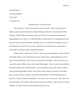 Our time wideman essay