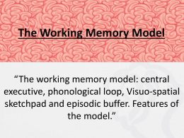 Lesson 3 (Working Memory Model)
