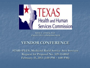 Doing Business with UTEP - Texas Health and Human Services
