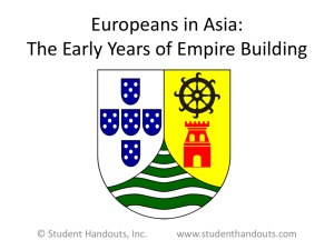 Europeans in Asia: The Early Years of Empire