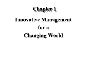 Chapter 1: The Nature of Management