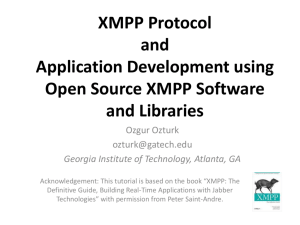 CTS\XMPP and Open Source SW and Libraries