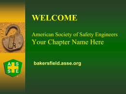 WELCOME - New Bakersfield Chapter Members!