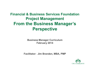 Project Management - Financial Services