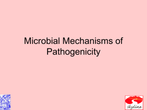 Ch 15 Microbial Mechanisms of Pathogenicity