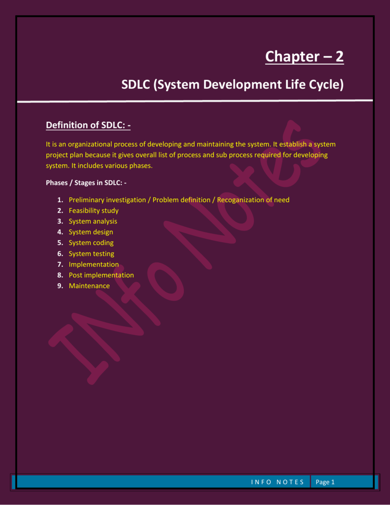 Chapter 2 System Development Life Cycle Sdlc