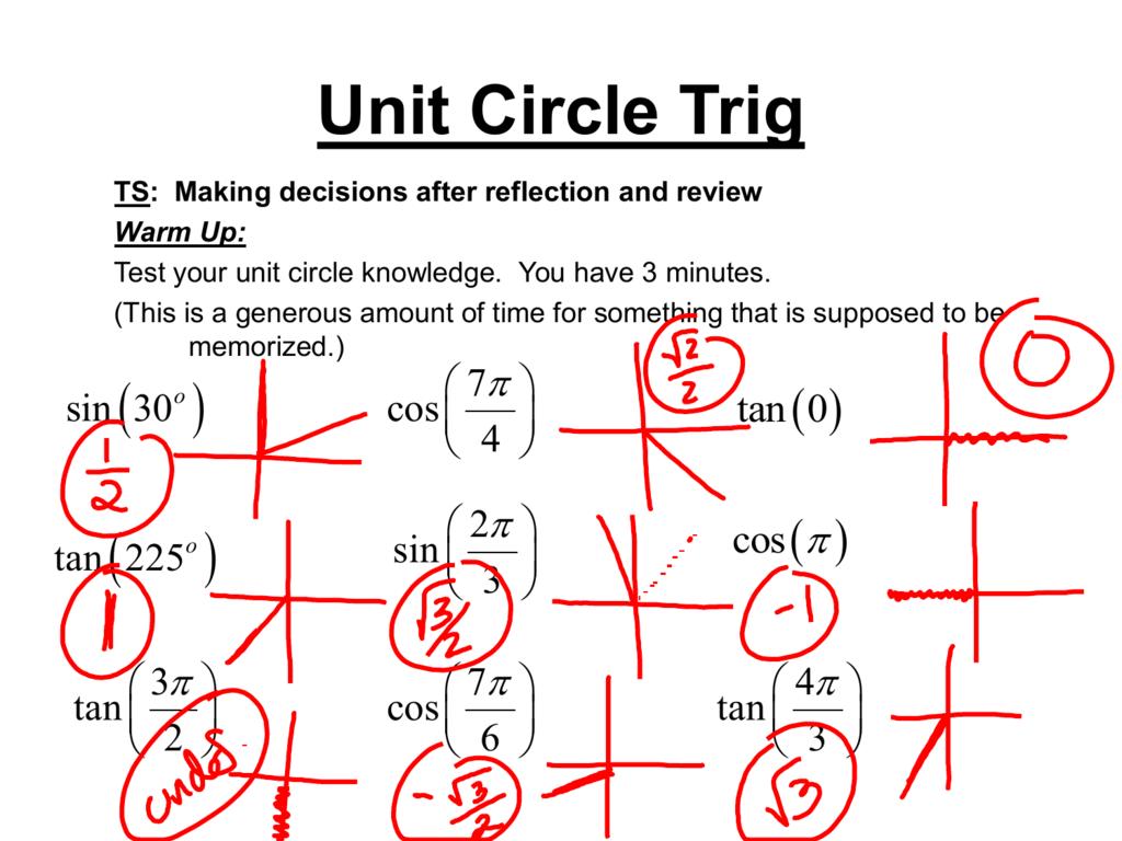 Unit Circle Trig