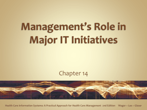 Management*s Role in Major IT Initiatives