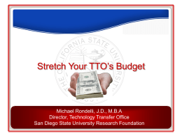 Technology Transfer and the California State University System