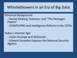Snowden and WikiLeaks