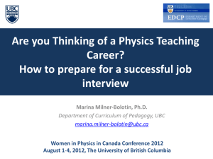 WIPC2012_Vancouver_Teaching Career_Inerview
