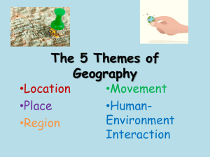 The 5 Themes of Geography - Garnet Valley School District