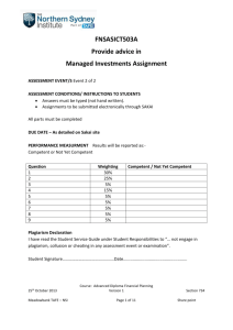 Assignment Managed Investments