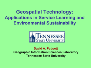 Geospatial Technology: Applications in Service Learning and